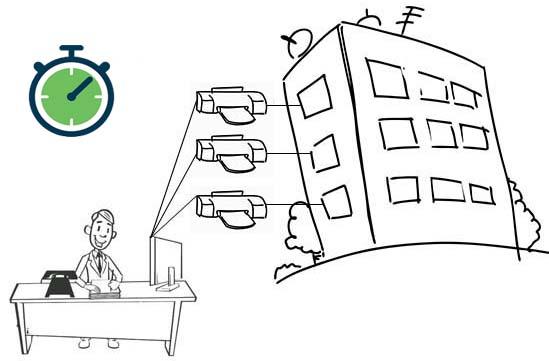 Axess Managed Print Services (MPS) система за отдалечено наблюдение спестява време