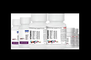 Цветни етикети с бял тонер при хранителните добавки и лекарствата