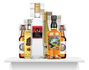 Цветни етикети с бял тонер при алкохолните напитки
