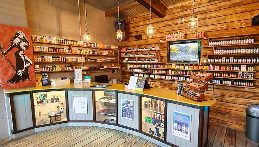 Магазин на Cornish Liquids за течности за електронни цигари