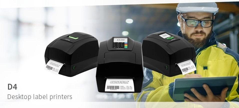 Етикетни принтери на Custom от серията D4